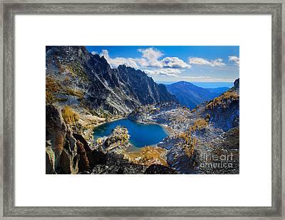 Crystal Lake Framed Print by Inge Johnsson