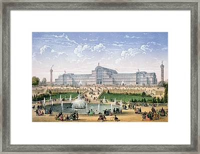 Crystal Palace, Sydenham, C.1862 Framed Print by Achille-Louis Martinet