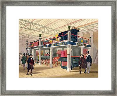 Crystal Palace, The Agricultural Court Framed Print by C.T. Dolby