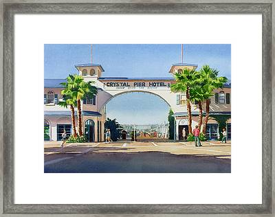 Crystal Pier Pacific Beach Framed Print by Mary Helmreich