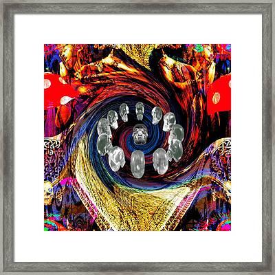 Crystal Skulls Framed Print by Jason Saunders
