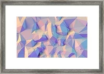 Crystal Triangle Framed Print by Vitaliy Gladkiy