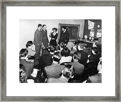 Crystallography Lecture Framed Print by Emilio Segre Visual Archives/american Institute Of Physics