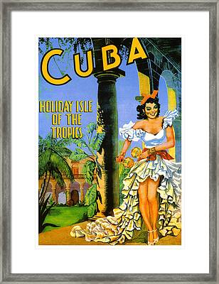 Cuba - Holiday Isle Of The Tropics Framed Print by Georgia Fowler