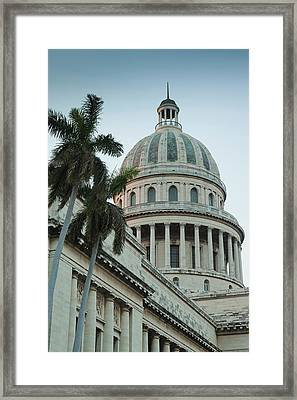 Cuba, Havana, Dome Of The Capitolio Framed Print by Walter Bibikow