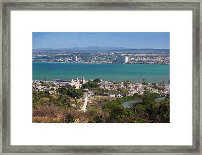 Cuba, Matanzas Province, Matanzas, City Framed Print by Walter Bibikow