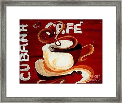 Cubana Cafe Framed Print by Jayne Kerr