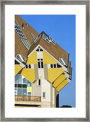 Cube Houses Framed Print by Alex Bartel
