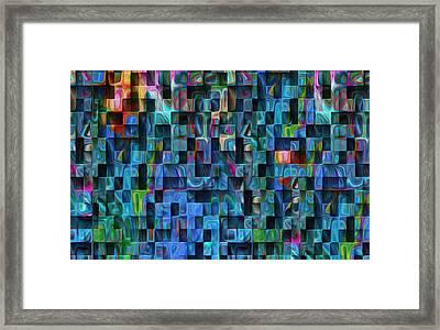 Cubed 3 Framed Print by Jack Zulli
