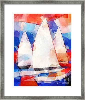 Cubic Sails Framed Print by Lutz Baar
