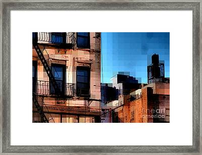 Up On The Roof Framed Print by Miriam Danar
