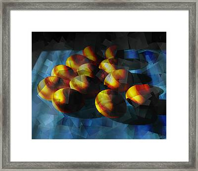 Cubist Rendition Of Eggs Framed Print by Randall Nyhof