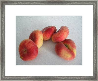 Cubist View Of Peento Peaches Framed Print by Manuela Constantin