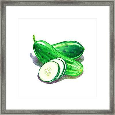 Cucumber Bunch Framed Print by Irina Sztukowski