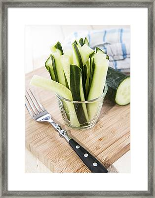 Cucumber Sticks Framed Print by Handmade Pictures