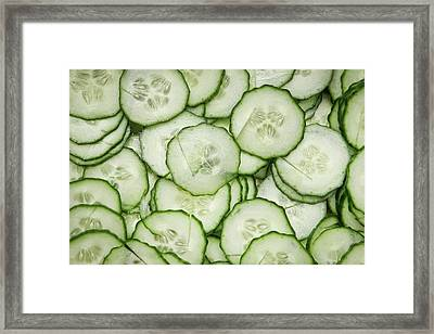 Cucumber Framed Print by Tom Gowanlock