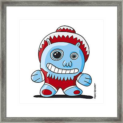 Cuddle Me Doodle Character Framed Print by Frank Ramspott