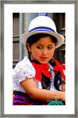 Cuenca Kids 231 Framed Print by Al Bourassa