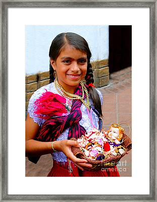 Cuenca Kids 234 Framed Print by Al Bourassa
