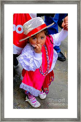 Cuenca Kids 242 Framed Print by Al Bourassa