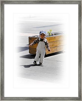Cuenca Kids 279 Framed Print by Al Bourassa