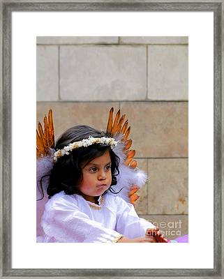 Cuenca Kids 296 Framed Print by Al Bourassa