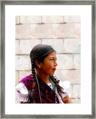 Cuenca Kids 298 Framed Print by Al Bourassa