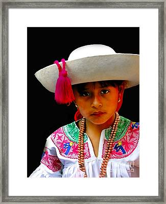Cuenca Kids 310 Framed Print by Al Bourassa