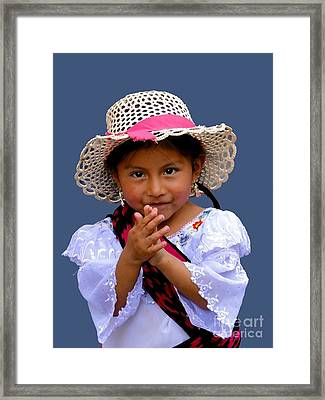 Cuenca Kids 318 Framed Print by Al Bourassa