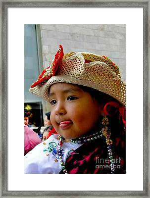 Cuenca Kids 342 Framed Print by Al Bourassa