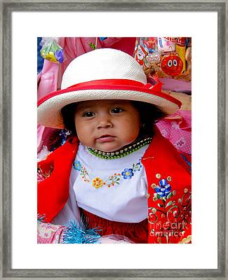 Cuenca Kids 369 Framed Print by Al Bourassa