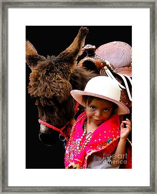 Cuenca Kids 375 Framed Print by Al Bourassa