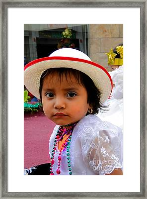 Cuenca Kids 376 Framed Print by Al Bourassa