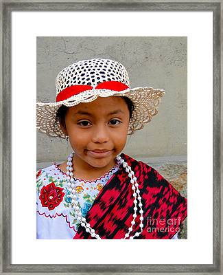 Cuenca Kids 384 Framed Print by Al Bourassa
