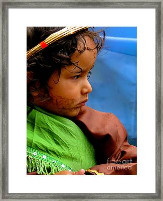 Cuenca Kids 390 Framed Print by Al Bourassa