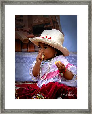 Cuenca Kids 435 Framed Print by Al Bourassa
