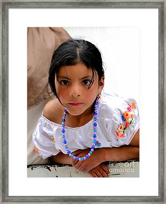 Cuenca Kids 448 Framed Print by Al Bourassa