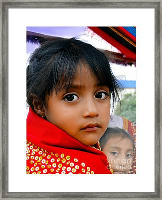 Cuenca Kids 462 Framed Print by Al Bourassa