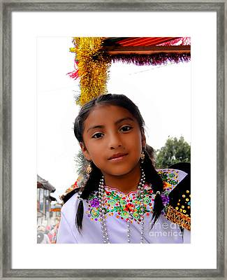 Cuenca Kids 463 Framed Print by Al Bourassa