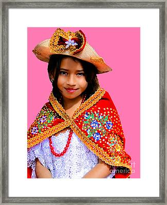 Cuenca Kids 494 Framed Print by Al Bourassa