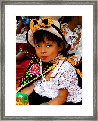 Cuenca Kids 497 Framed Print by Al Bourassa