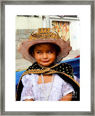 Cuenca Kids 498 Framed Print by Al Bourassa