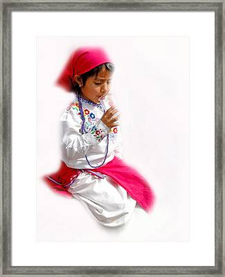 Cuenca Kids 507 Framed Print by Al Bourassa