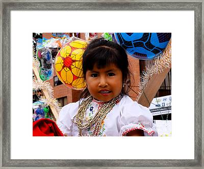 Cuenca Kids 545 Framed Print by Al Bourassa