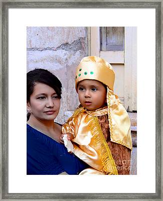 Cuenca Kids 564 Framed Print by Al Bourassa