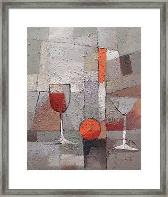 Cuisine Grey Framed Print by Lutz Baar