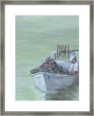 Culling The Catch Framed Print by Susan Richardson