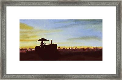 Cultivating Beans Framed Print by Garry McMichael