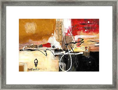 Cultural Abstractions - Hattie Mcdaniels Framed Print by Everett Spruill