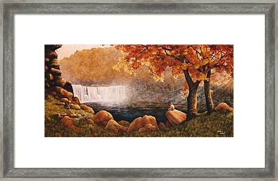 Cumberland Falls Framed Print by Duane R Probus